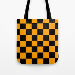 Golden Yellow & Black Chex 2 Tote Bag
