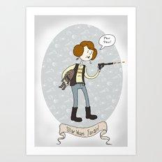 Star Wars fan-girl Art Print