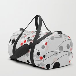 Winterberry - Abstract - Black, Gray, Red, White Duffle Bag