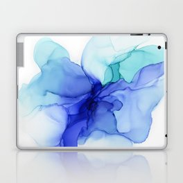 Blue Floral Abstract Ink Laptop & iPad Skin