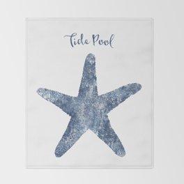 Starfish Tide Pool habitat Throw Blanket