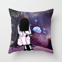 Gone away girl Throw Pillow