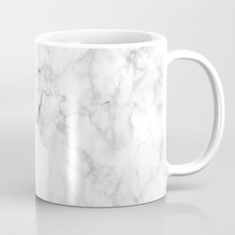 Marble pattern on white background Coffee Mug