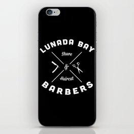 Barber Shop : Lunada Bay Barbers B&W iPhone Skin