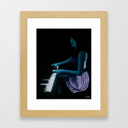 "‎""Silhouette cast from the depths""  Framed Art Print"