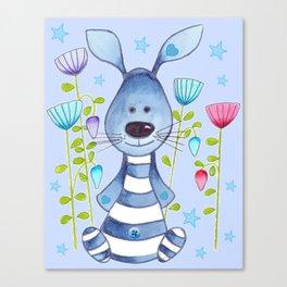 Little Blue Wabbit Canvas Print