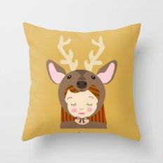 Like a deer.. Throw Pillow