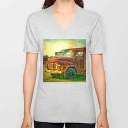 Old Rusty Bedford Truck Unisex V-Neck