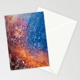 Vibrant Acrylic Texture Stationery Cards