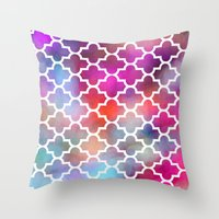 moroccan Throw Pillows featuring Moroccan by hollllllyj