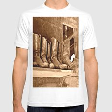 Boots White SMALL Mens Fitted Tee