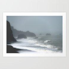 Pacific Northwest Beach Storm Art Print