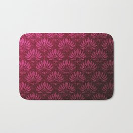 Deep red art nouveau pattern, fan pattern, vintage,art deco, victorian,belle epoque,purple,elegant,chic,modern,beautiful,feminine,asian,art nouveau,red,metallic Bath Mat