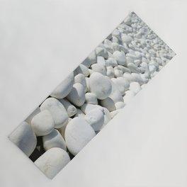 White stones Yoga Mat