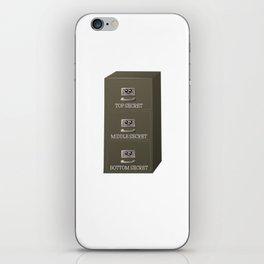 Top Secret Bottom Secret Funny File Cabinet Pun iPhone Skin