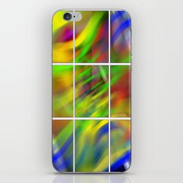 colourful abstraction iPhone Skin