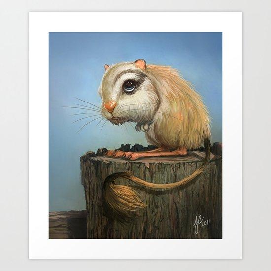 Kangaroo Mouse Art Print