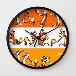 calvin and hobbes  fun Wall Clock