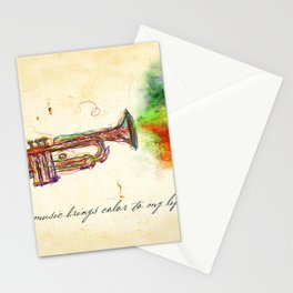 Music Brings Color to My Life Stationery Cards