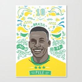 Pelé Canvas Print
