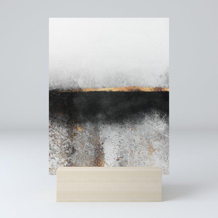 Soot And Gold Mini Art Print
