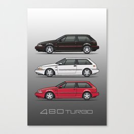 Stack of Volvo 480 Turbos Canvas Print
