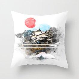 Japan, Tokyo - Imperial Palace Throw Pillow