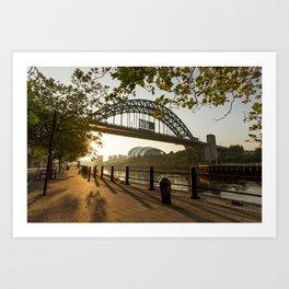 Quayside Sunrays Art Print