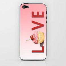 Perfect Pink Cupcake LOVE iPhone & iPod Skin