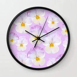 Pansies Dream #2 #floral #pattern #decor #art #society6 Wall Clock