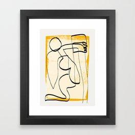 Abstract line art 3 Framed Art Print