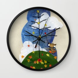 Swing Swing! Cat On A Swing Wall Clock