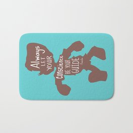 Always Let your Conscience Be Your Guide - Pinocchio inspired Print  Bath Mat