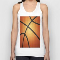 basketball Tank Tops featuring Basketball by Debra Ulrich