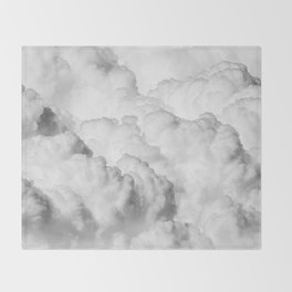 White Clouds Throw Blanket