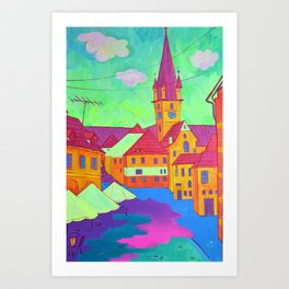 Town Art Print