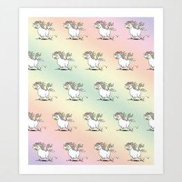 Farting Unicorn Art Print