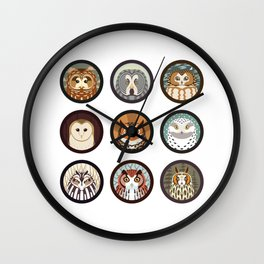 Owls of the Eastern United States Wall Clock