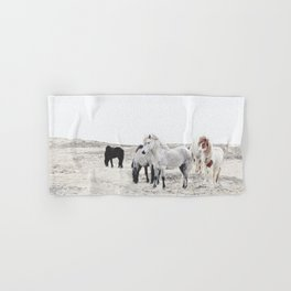 WILD AND FREE  1 - HORSES OF ICELAND Hand & Bath Towel