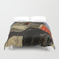 puffin Duvet Covers featuring Puffin  by EmilyGrantDesign