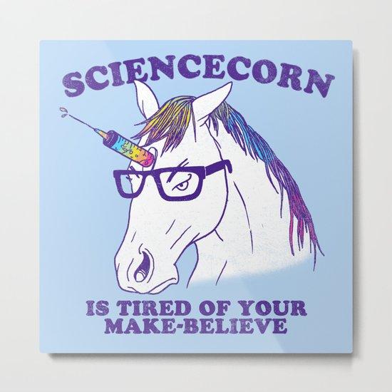 Sciencecorn Metal Print