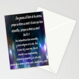 Estrellas en galaxia - Salmo 136, 2-3 Stationery Cards