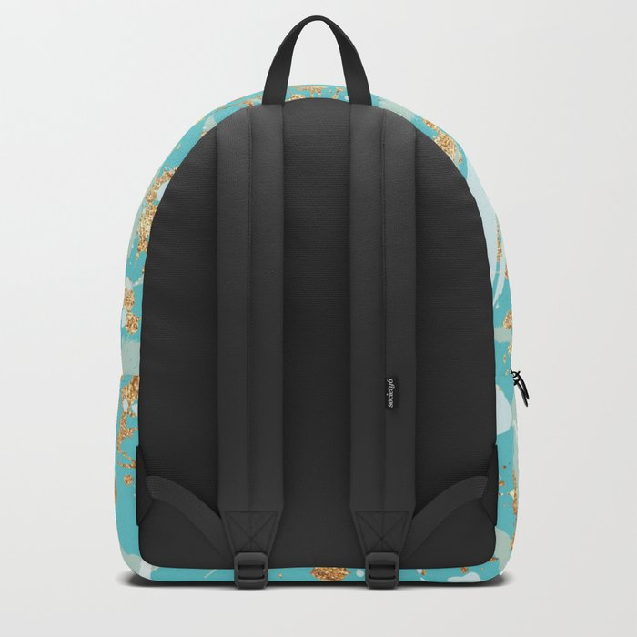 Feather peacock peach mint #2 Backpack