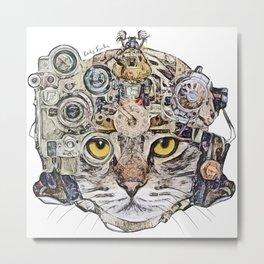 Sci Fi Cat Metal Print
