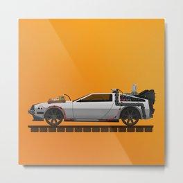 Back to the Future DeLorean 3 Metal Print