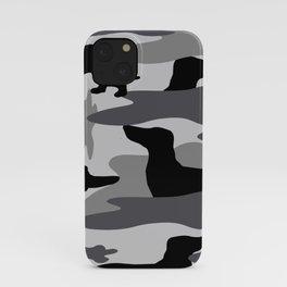 Grey Camo Weiner Dogg iPhone Case