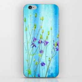 Dark Blue Delphinium Soft Oil Style iPhone Skin