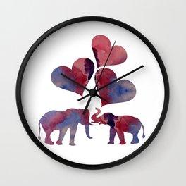 Elephant Art Wall Clock