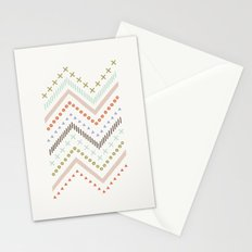 Mixed Zig Zag - in Mint Stationery Cards