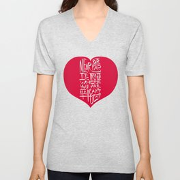 In a Heartbeat Unisex V-Neck